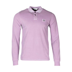 Stone Island Long Sleeve Polo Shirt In Pink 2SS67