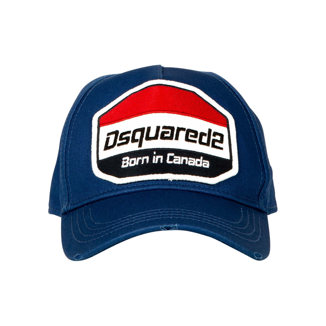 Dsquared2 Born In Canada Cap In Blue