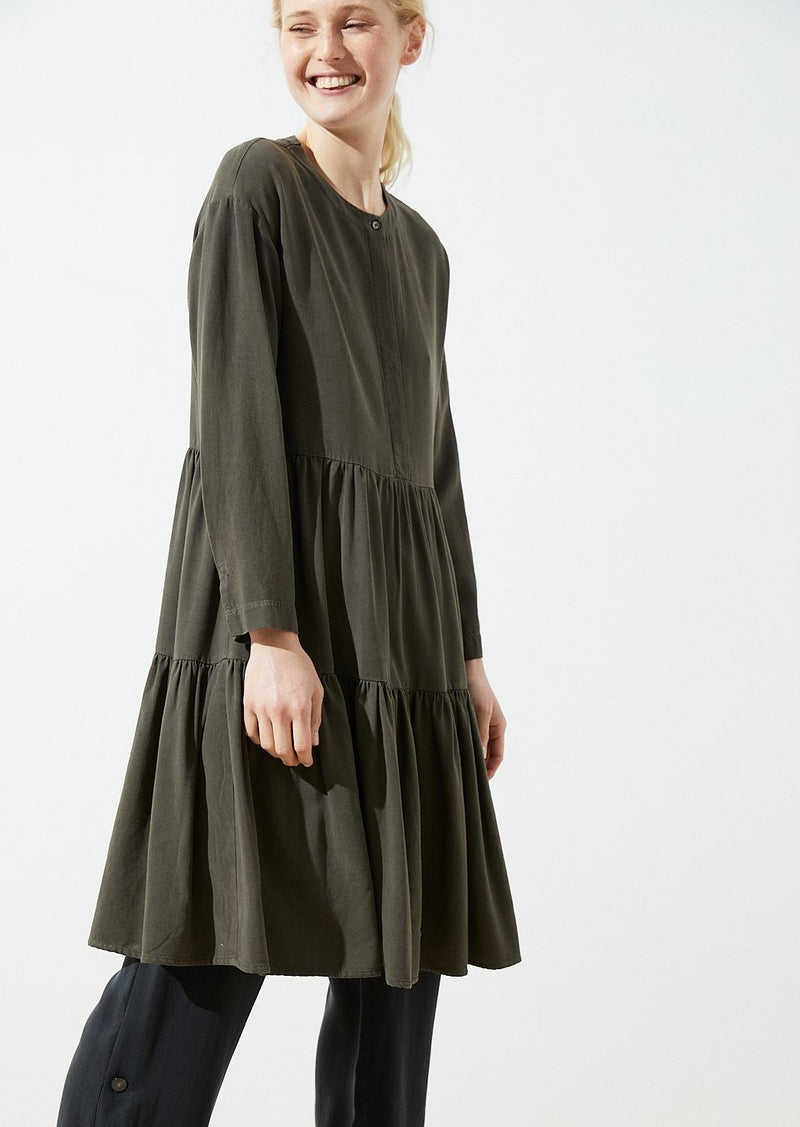 Dashuri Popeline Dress - Khaki