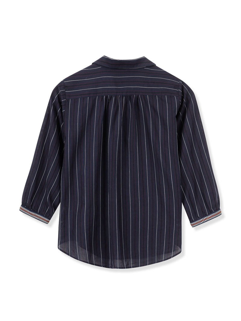 Willow Blouse - Black/Blue