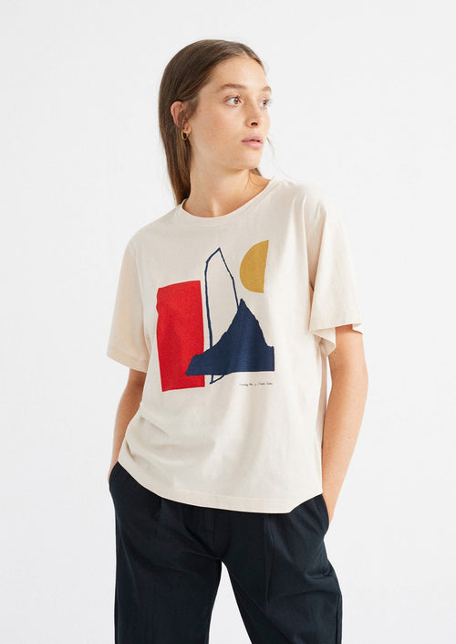 thinking mu abstract t-shirt bone