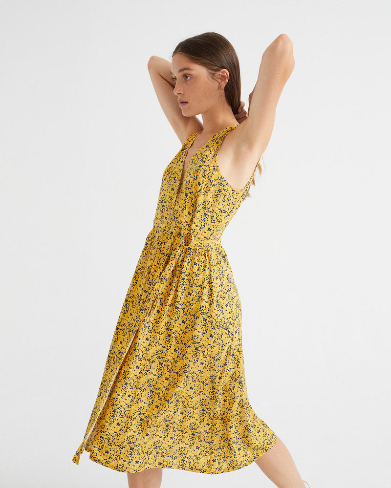 Amapola Dress - Multiflowers Mustard