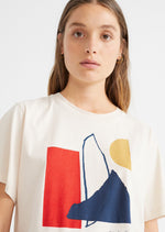 Abstract T-Shirt - Bone