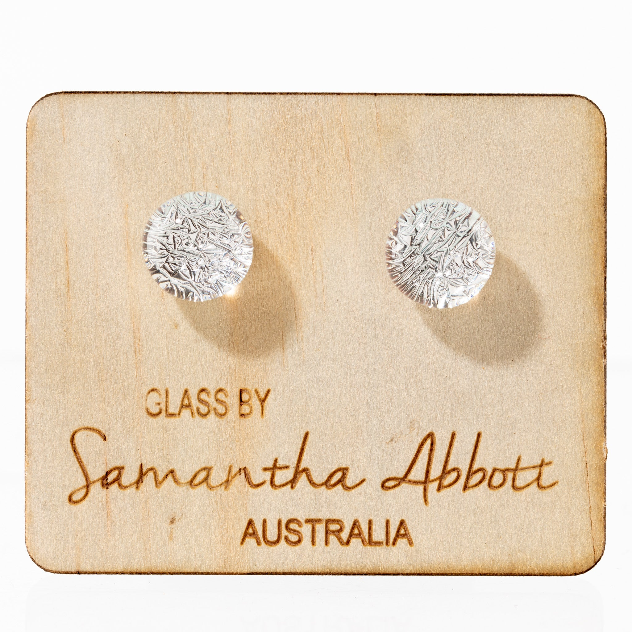 Glass Stud Earrings - Ice Sparkle