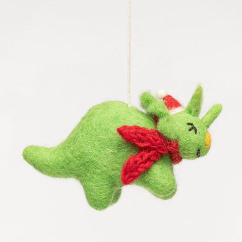 Felt Christmas Ornament - Triceratops