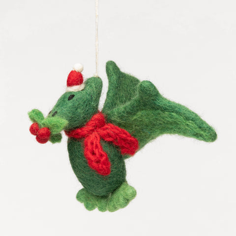 Felt Christmas Ornament - Pterodactyl