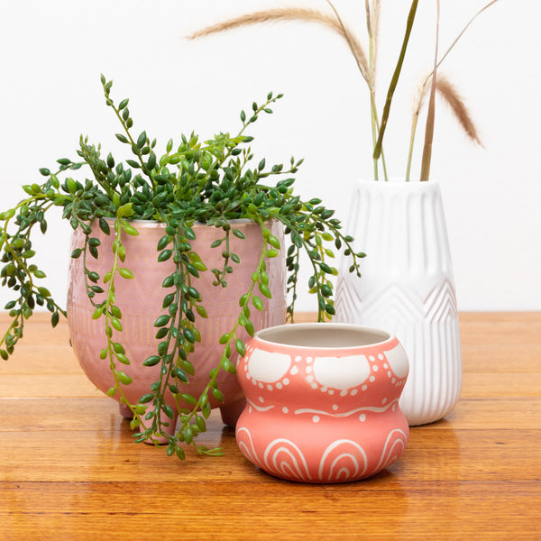 Tulum Pot - Pink - small