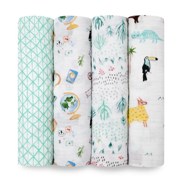 4pack Swaddles - Around The World
