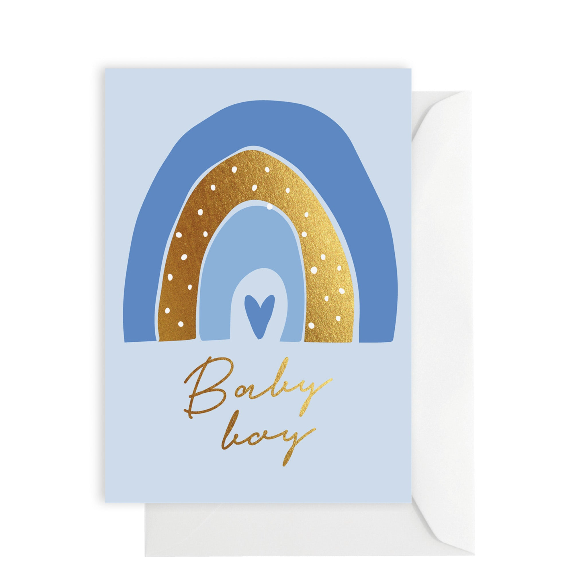Card - Baby Boy - blue rainbow