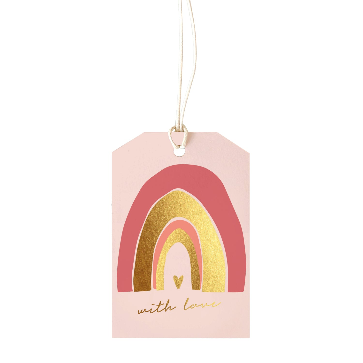 Gift Tag - With Love - pink