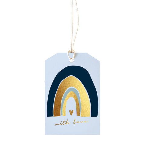 Gift Tag - With Love - blue