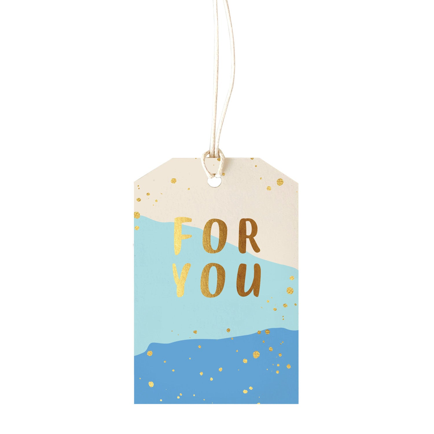 Gift Tag - For you - blue