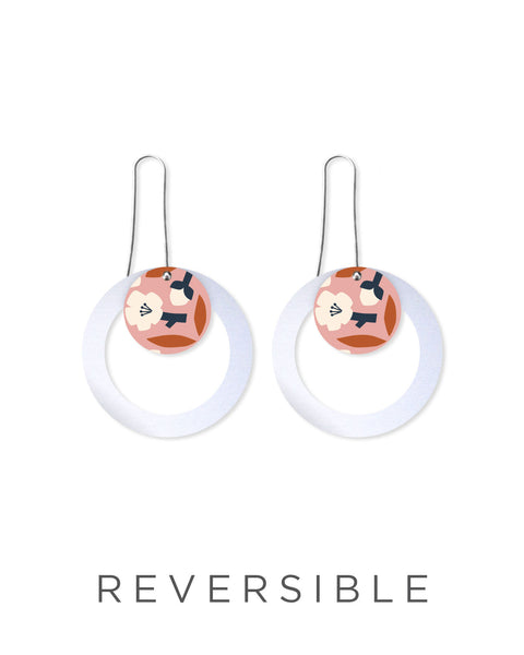 Layered Outline Drop Earrings - Myriam Van Neste / Peach Blossom