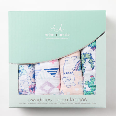 4pack Swaddles - Trail Blooms