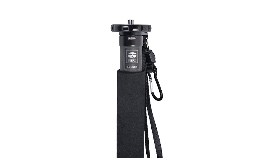 SIRUI AM-326M Carbon Fibre Monopod Height 155 cm, Weight 0.45 kg, Max Load 10 kg with Carabiner and Compass