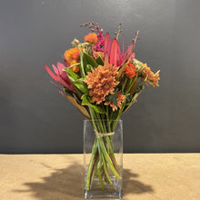 Load image into Gallery viewer, Here at Red Fragrance we adore our native flowers, and we have pulled together a few here to illustrate the gorgeous Red Native themed bunch. As with all flowers, the seasons impact which flowers will be the best for your creation and so our very talented florists may replace some flowers that are pictured to ensure you get the best and freshest picks. Vase not included.