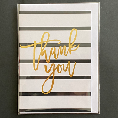 Thank you - Black and White Stripes
