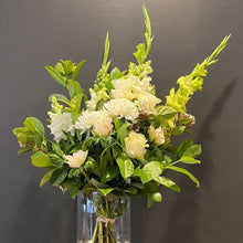 Load image into Gallery viewer, Tall and elegant, this large bunch (pictured) highlight beautiful white stems, with luscious green foliage will not disappoint. Our florists choose only the best flowers at the market and weave them into a stunning piece just for you.