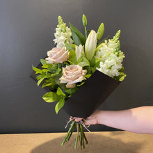 Load image into Gallery viewer, Tall and elegant, this bouquet centres around the beautiful lily. This design is built to last and we are sure you will enjoy the stunning and beautifully scented bunch. Some flowers may be upgraded to ensure only the best blooms are delivered to you.