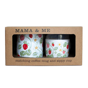 Vintage Strawberry Mama & Me Cup Set