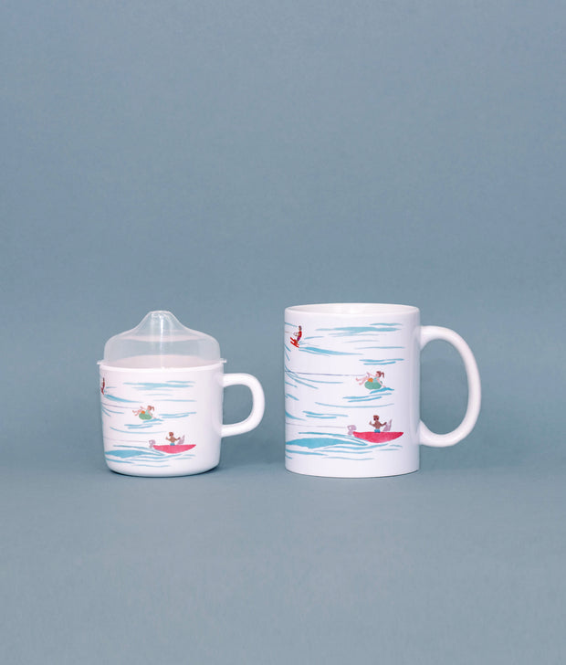 Water Skiers Mama & Me Cup Set 1