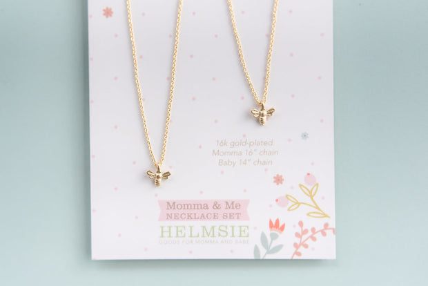 Momma & Me Bee Necklace Set 1