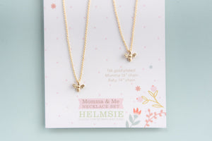 Momma & Me Bee Necklace Set