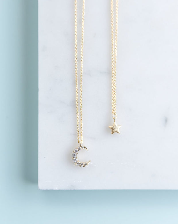 Momma & Me Moon and Star Necklace Set 1