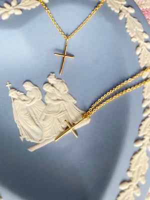 Load image into Gallery viewer, Momma & Me Cross Necklace Set
