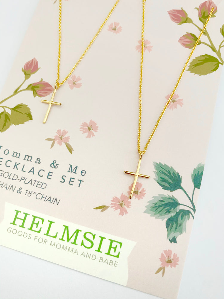 Momma & Me Cross Necklace Set