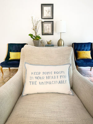 Helmsie x Creative Co-Op Hand Lettered Pillow
