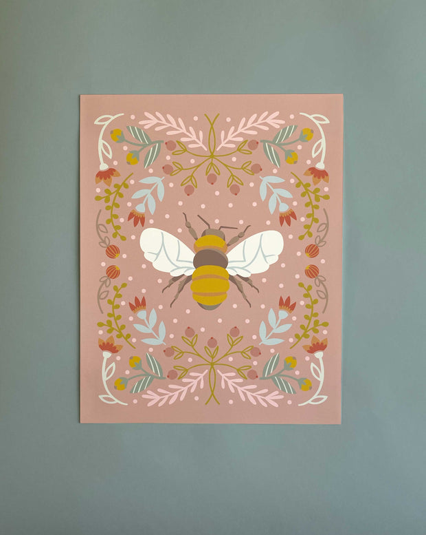 Bee in pink 1