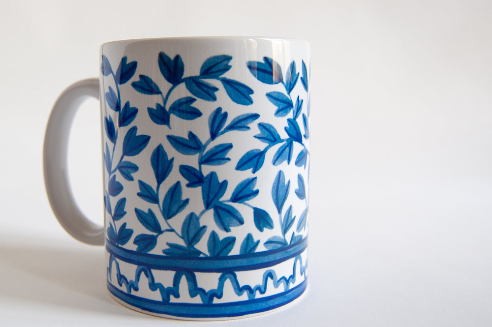 Load image into Gallery viewer, Blue and White Ceramic Mug