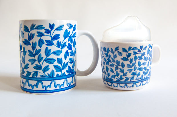 Blue and White Mama & Me Cup Set 1