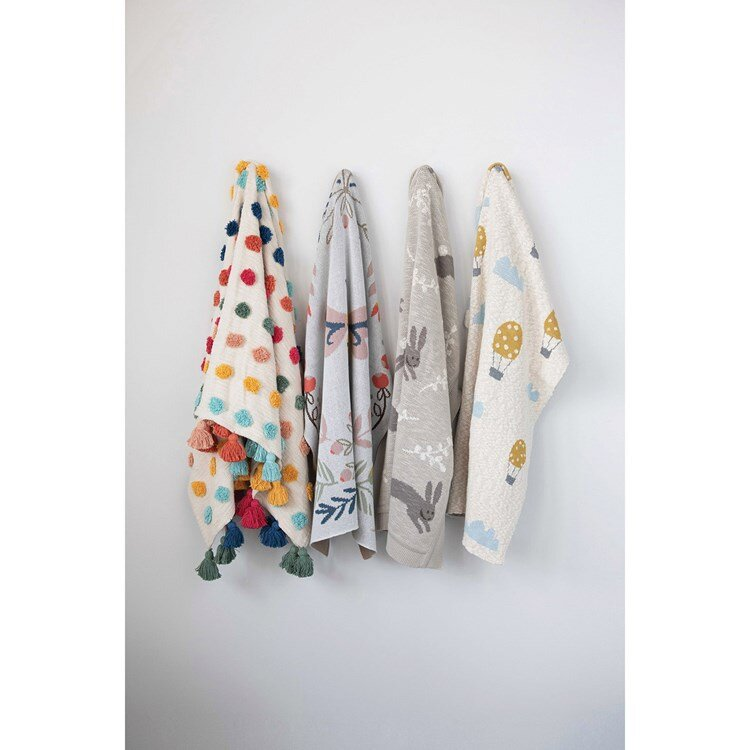 Load image into Gallery viewer, JUST RESTOCKED!! Helmsie x Creative Co-Op Knit Bee Blanket