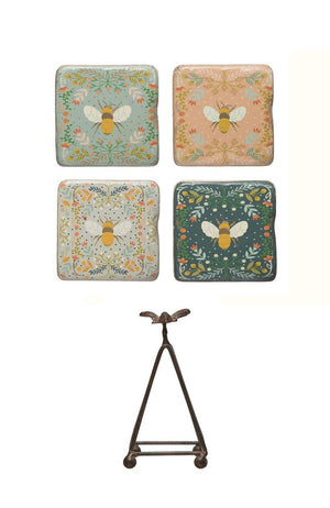 Load image into Gallery viewer, Helmsie x Creative Co-Op Bee Coasters