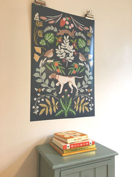 The Hunt Poster in navy