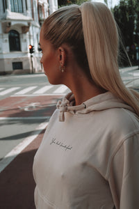 Isabelle | You look beautiful | Hoodie | Beige
