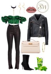 Style inspiration leather collar and belt