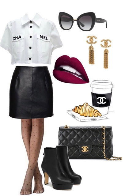 casual leather mini skirt outfit ideas post lockdown outift ideas underwear as outerwear