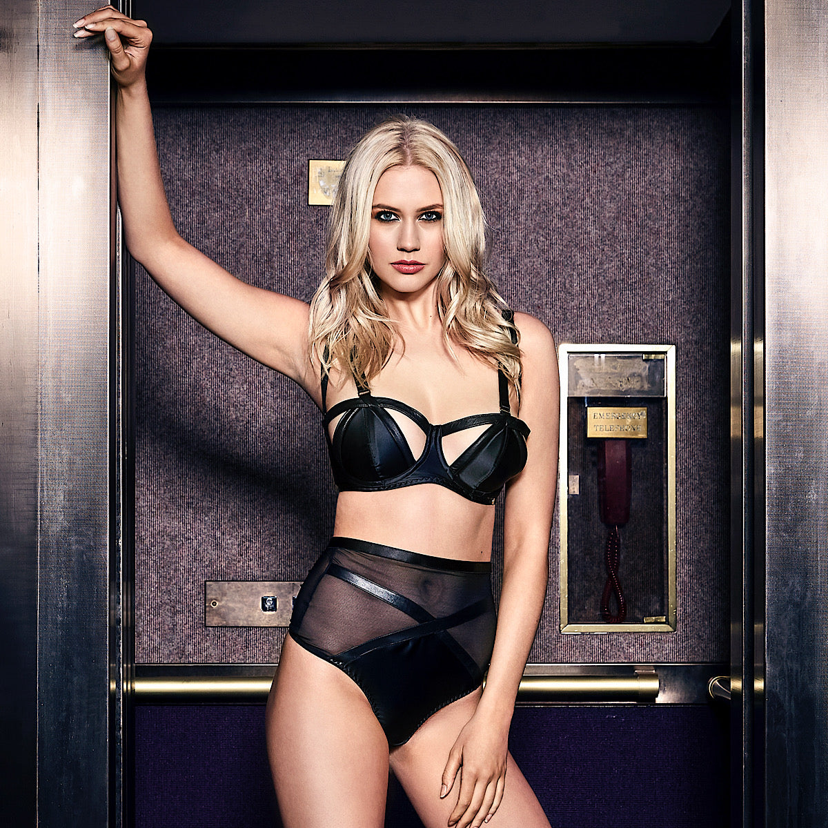 cut out leather bra edgy kinky wired bra