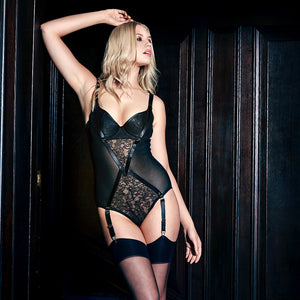 Load image into Gallery viewer, Annabel See-Through Lace Bodysuit