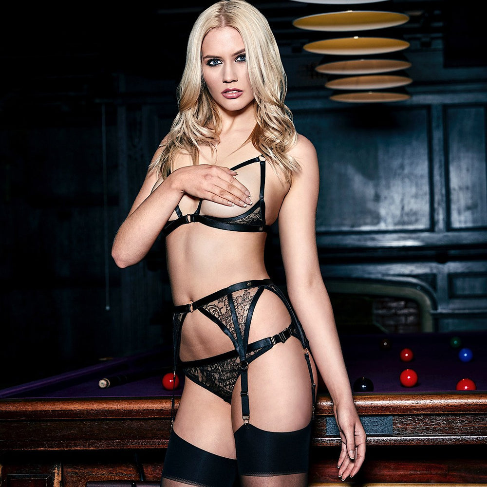 Load image into Gallery viewer, Annabel See-Through Lace Ouvert Brief