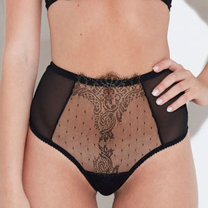 Load image into Gallery viewer, Arabella See-Through Lace High Waist Thong