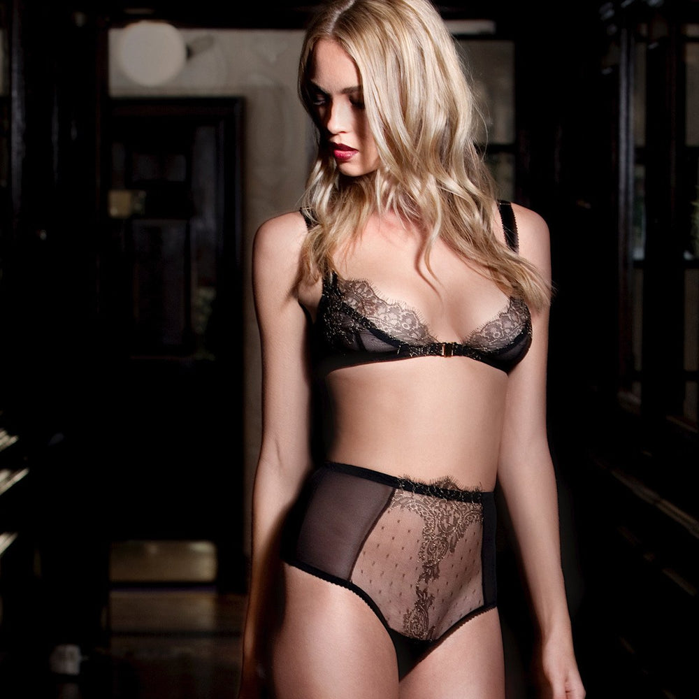 Load image into Gallery viewer, Arabella See-Through Lace Soft Cup Set