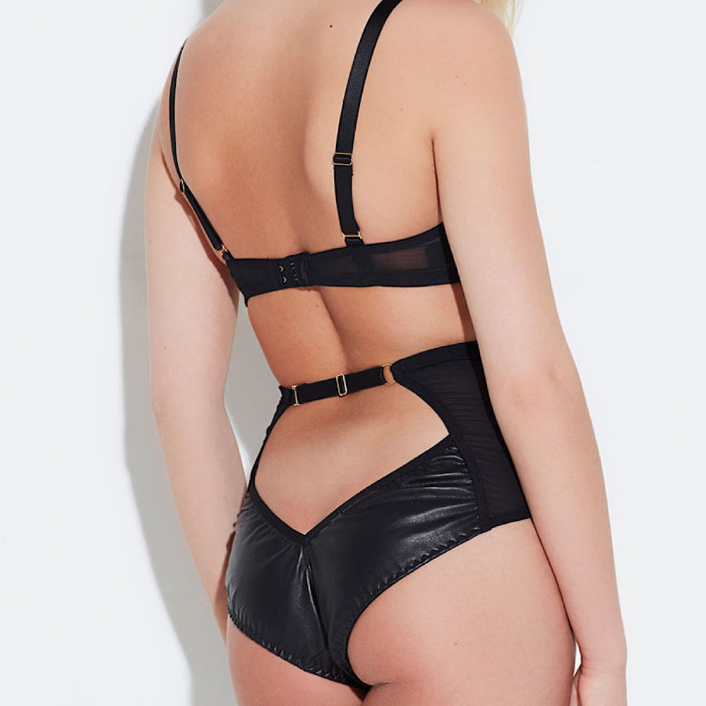 Load image into Gallery viewer, Ava Leather & Suede High Waist Brief
