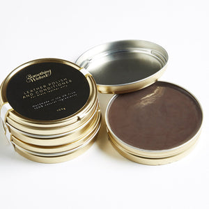 Load image into Gallery viewer, 100% Natural ingredients are all you will find in this luxurious leather polish handmade from beeswax