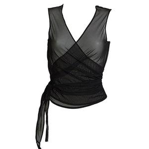 Load image into Gallery viewer, See through top wrap over style luxury mesh top