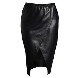 Load image into Gallery viewer, Luxury designer real leather skirt