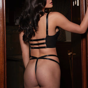 Load image into Gallery viewer, Mia Leather Thong